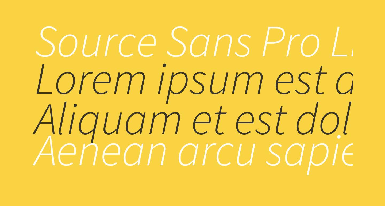 Source Sans Pro Light Italic