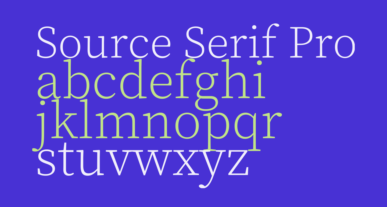 Source Serif Pro Light