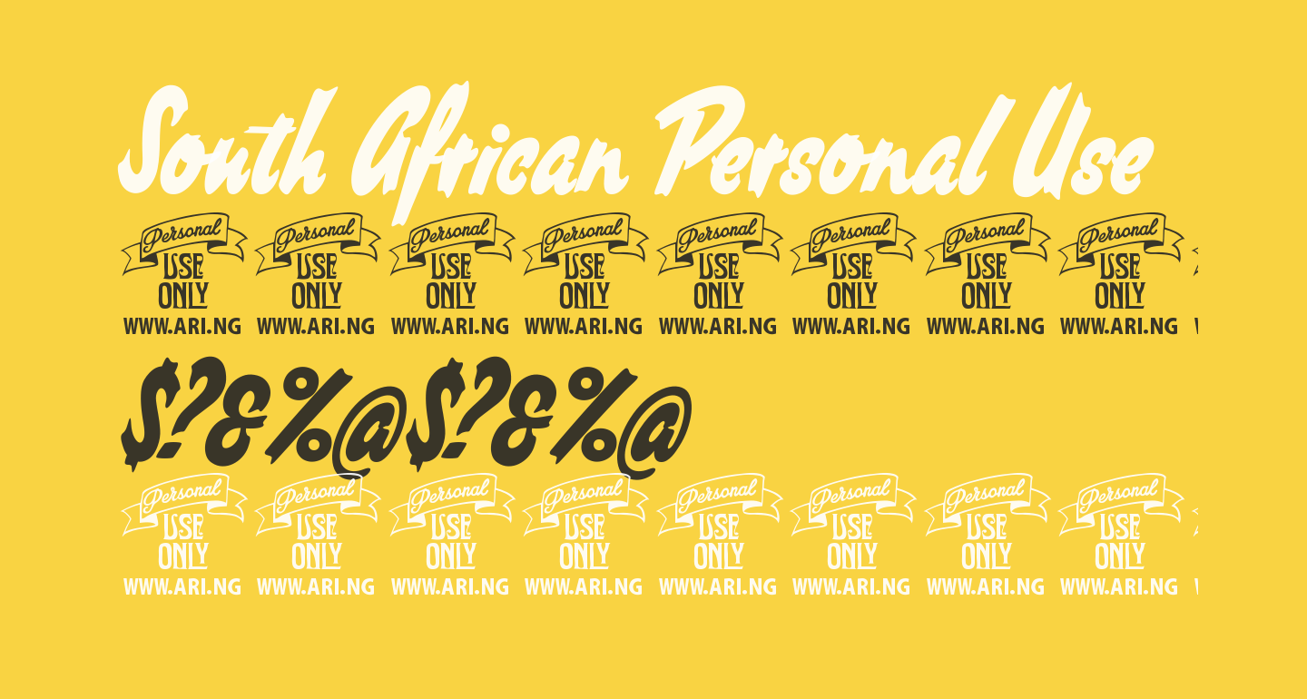 South African Personal Use