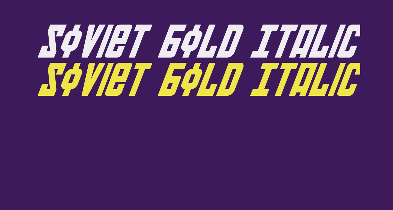 Soviet Bold Italic