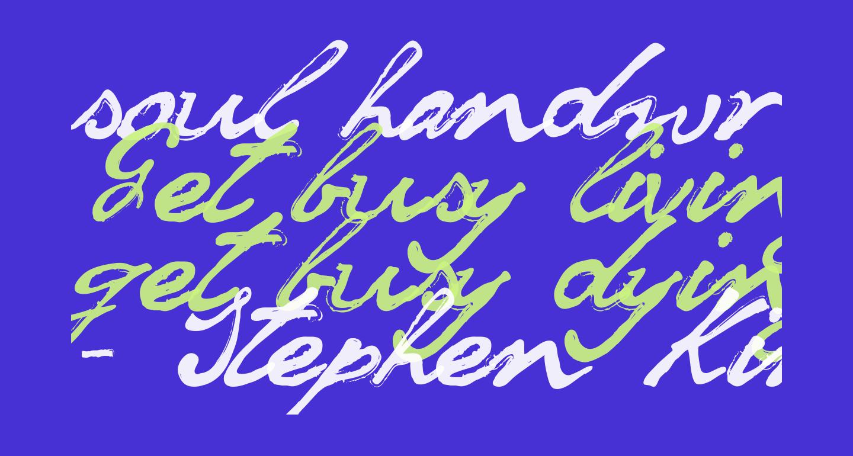 soul handwriting_free-version