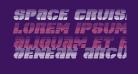 Space Cruiser Scanlines Italic