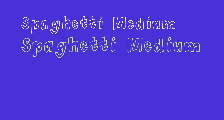 Spaghetti Medium