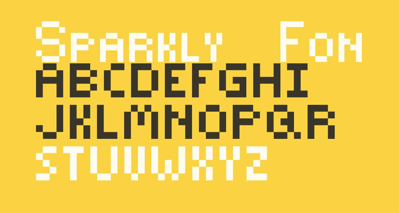 Sparkly-Font Regular