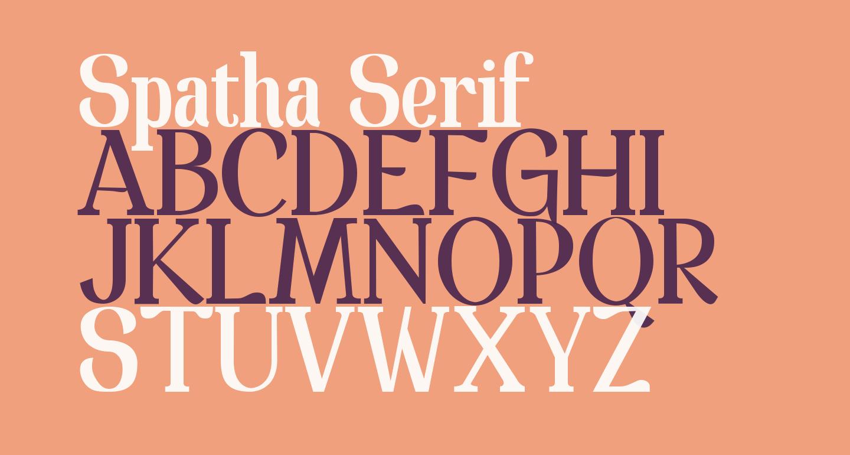Spatha Serif
