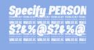 Specify PERSONAL Condensed Black Italic