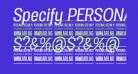 Specify PERSONAL Condensed Medium Italic