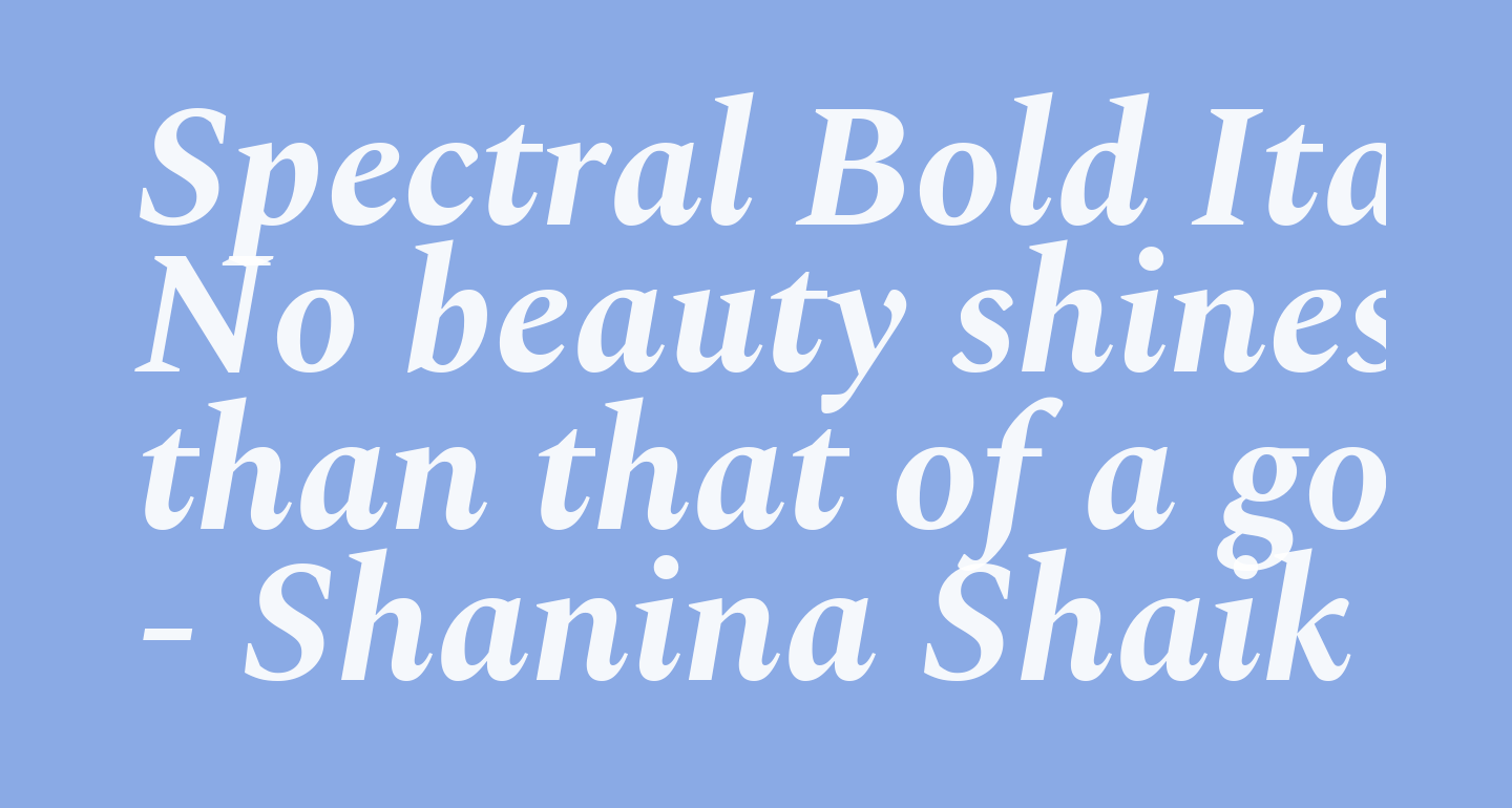 Spectral Bold Italic