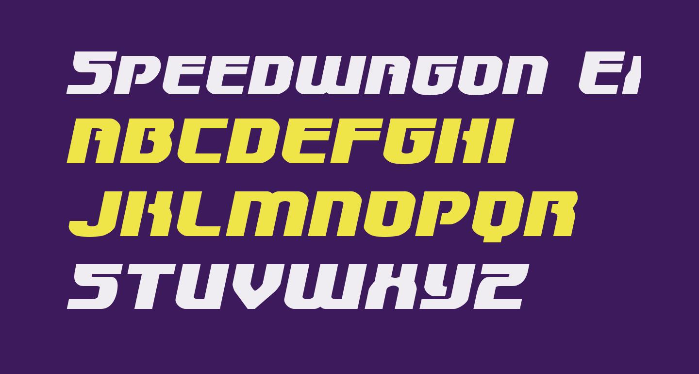 Speedwagon Expanded Italic
