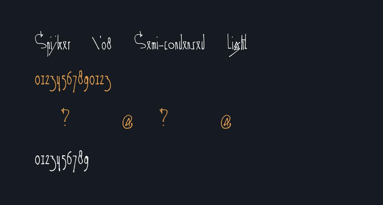 Spijker '08 Semi-condensed Light