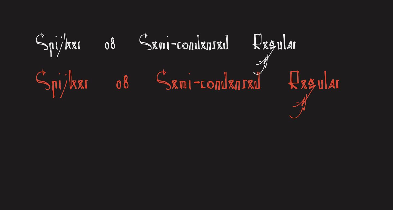 Spijker 08 Semi-condensed Regular