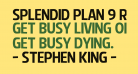 Splendid Plan 9 Regular