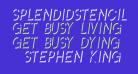 SplendidStencil-Regular