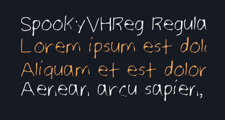 SpookyVHReg Regular