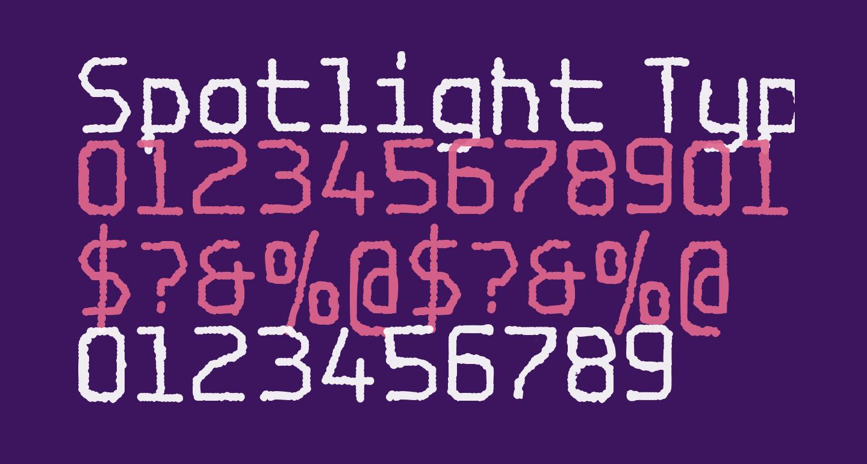 Spotlight Typewriter NC
