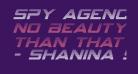 Spy Agency Gradient Italic