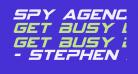 Spy Agency Italic
