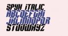 Spyh Italic