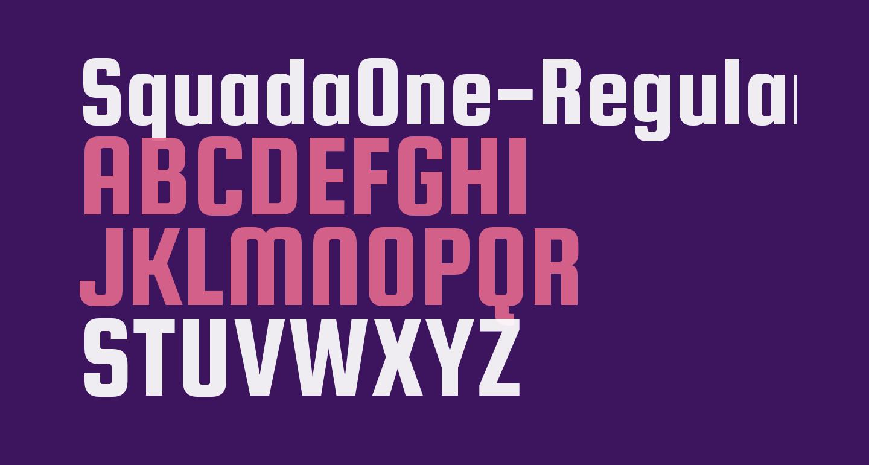 SquadaOne-Regular