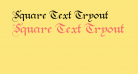 Square Text Tryout