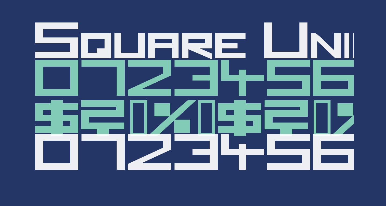Square Unique ExtraBold