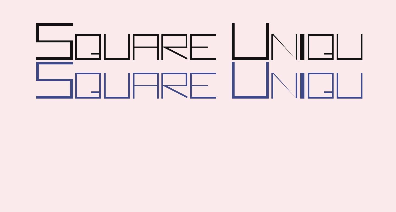 Square Unique Thin