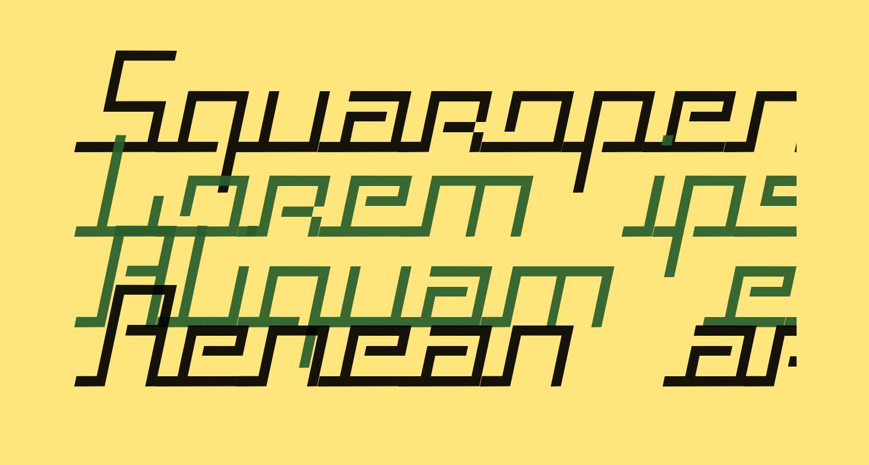 Squaropen Italic
