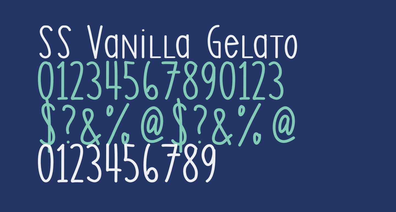 SS Vanilla Gelato