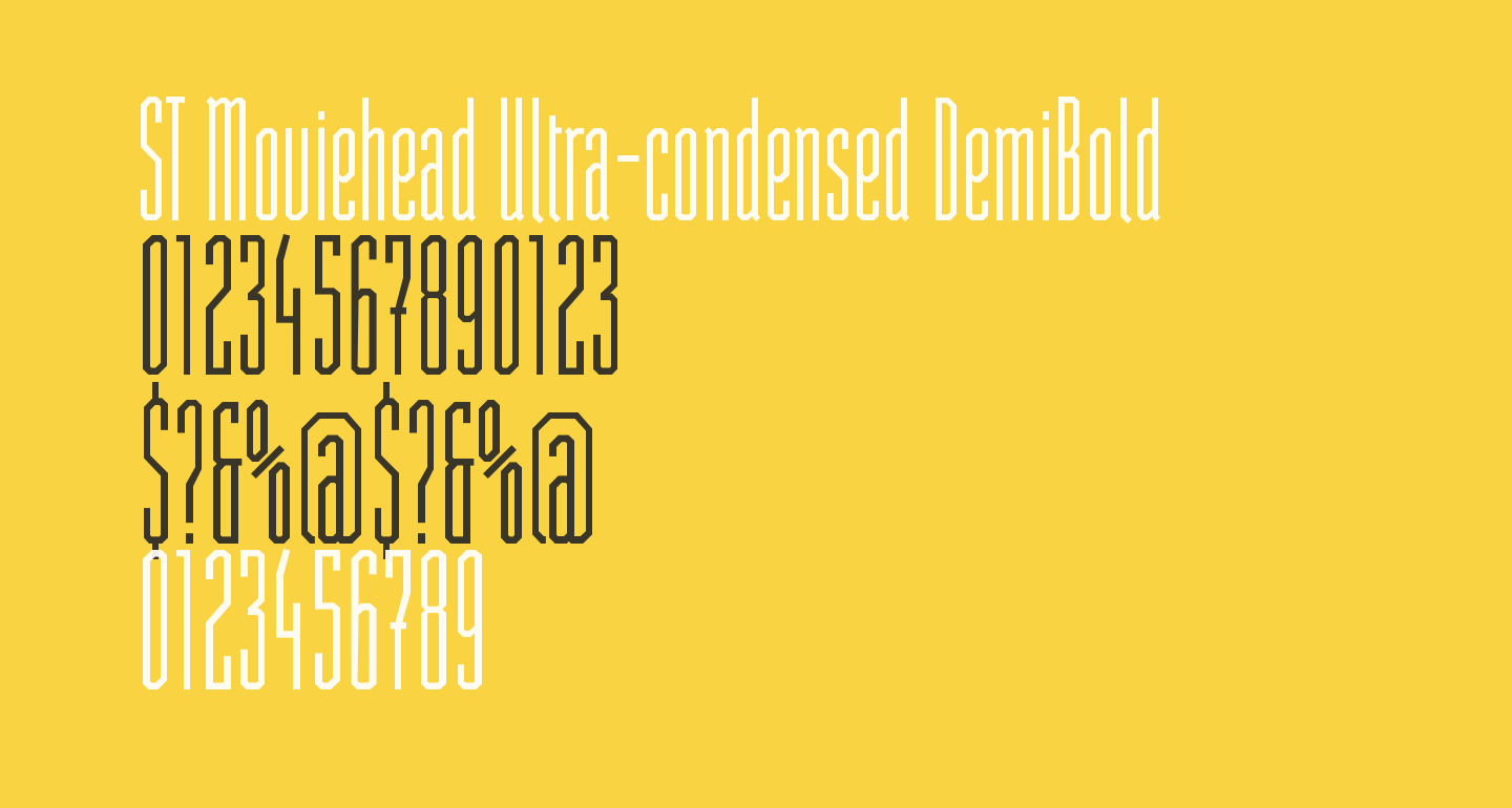 ST Moviehead Ultra-condensed DemiBold