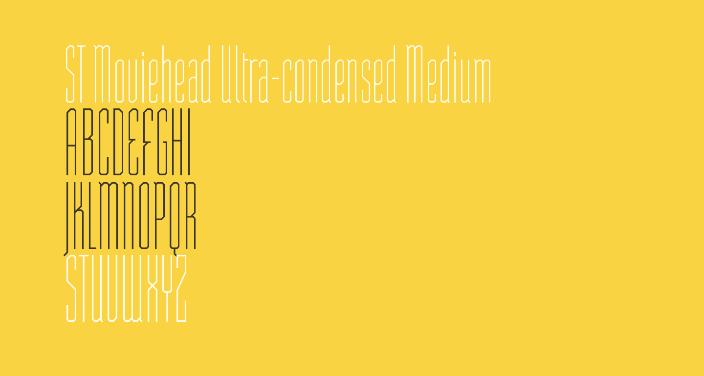 ST Moviehead Ultra-condensed Medium