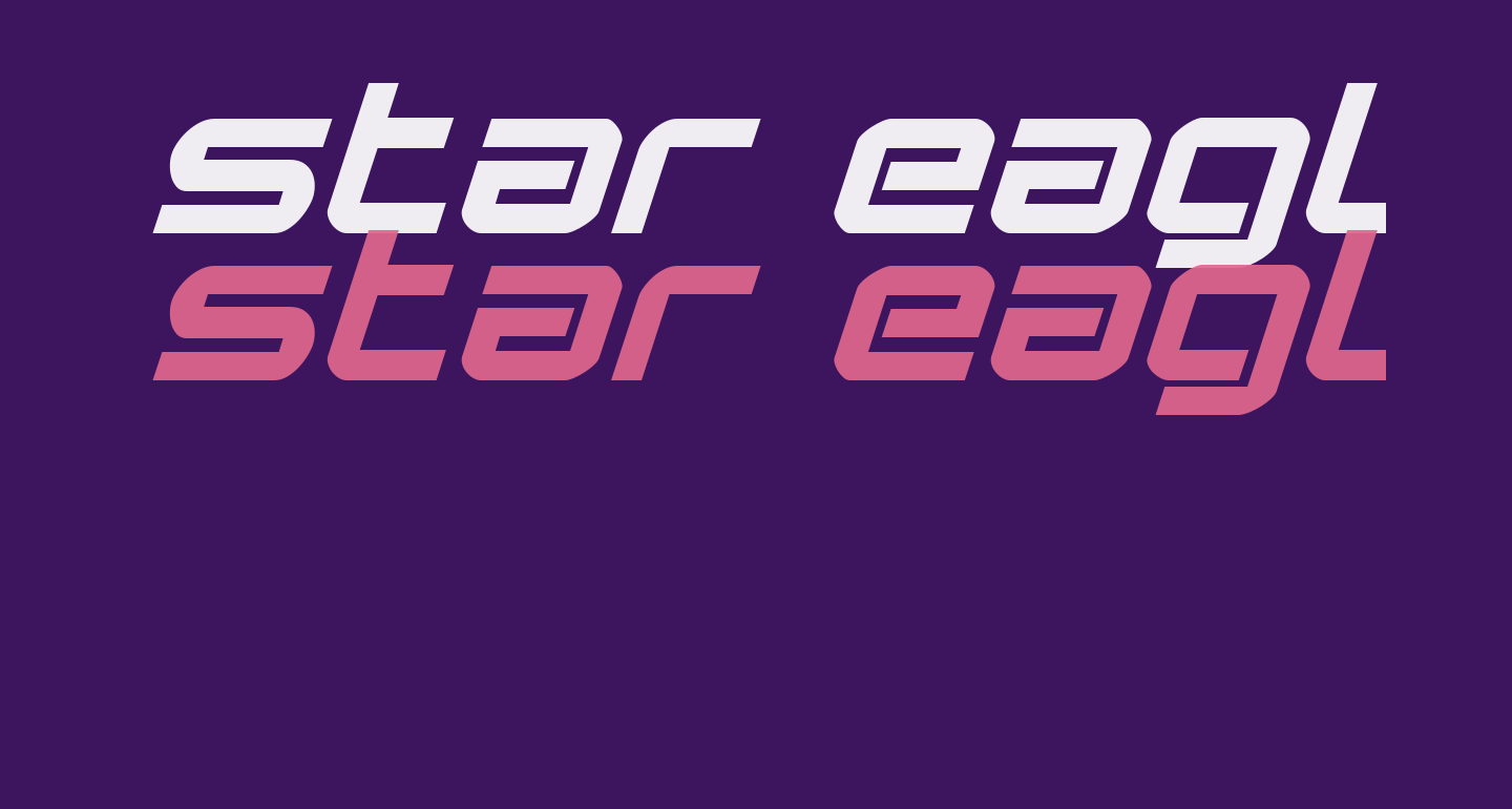 Star Eagle Expanded Bold Italic