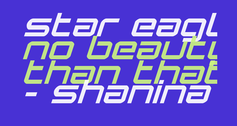 Star Eagle Expanded Italic