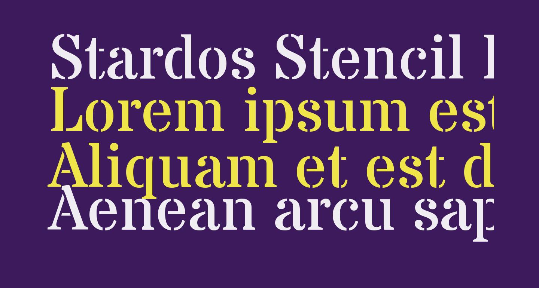 Stardos Stencil Regular