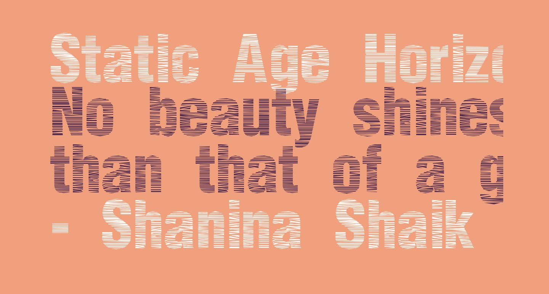 Static Age Horizontal Hold