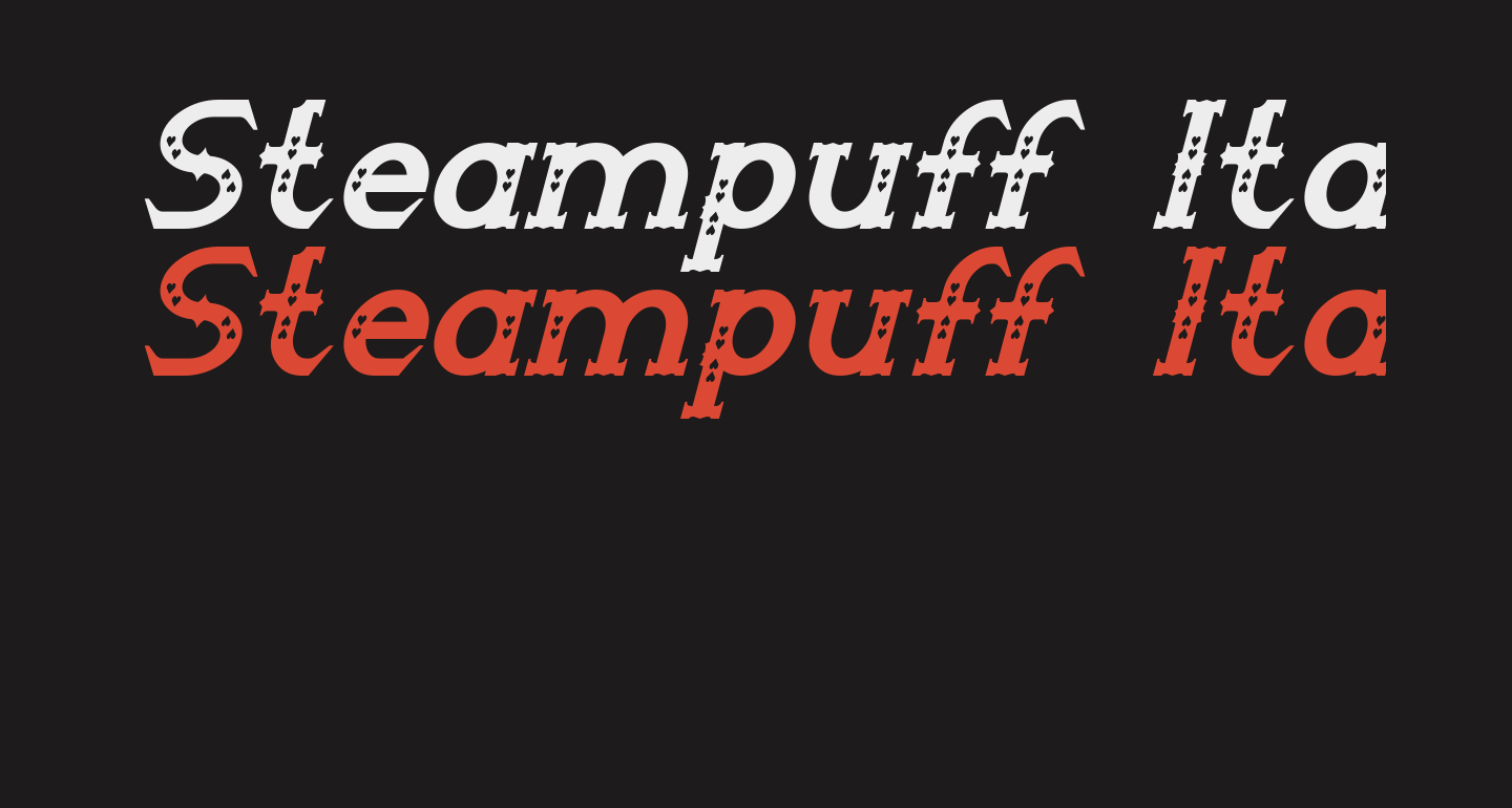 Steampuff Italic