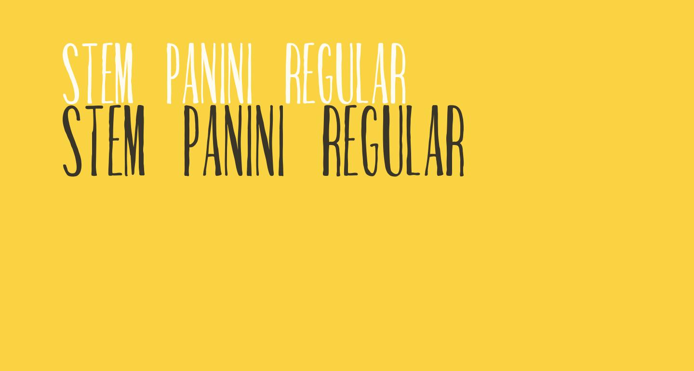 Stem Panini Regular