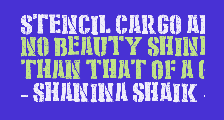 Stencil Cargo Army