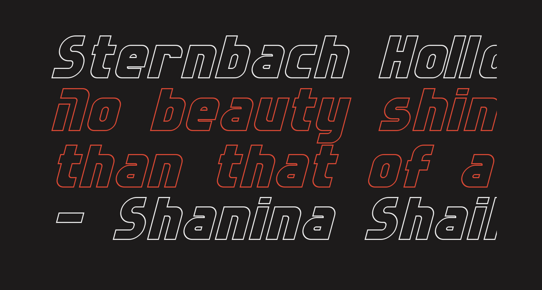 Sternbach Hollow Italic