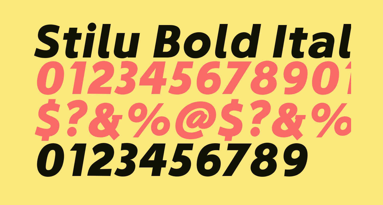 Stilu Bold Italic