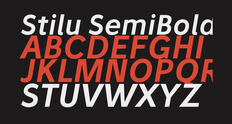 Stilu SemiBold Italic