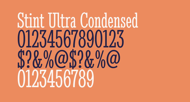 Stint Ultra Condensed