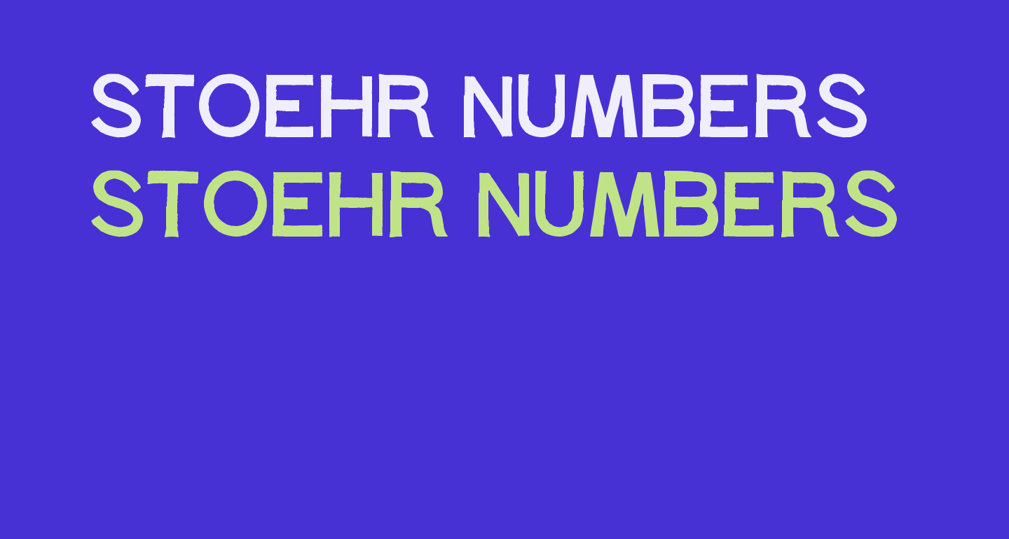 Stoehr numbers
