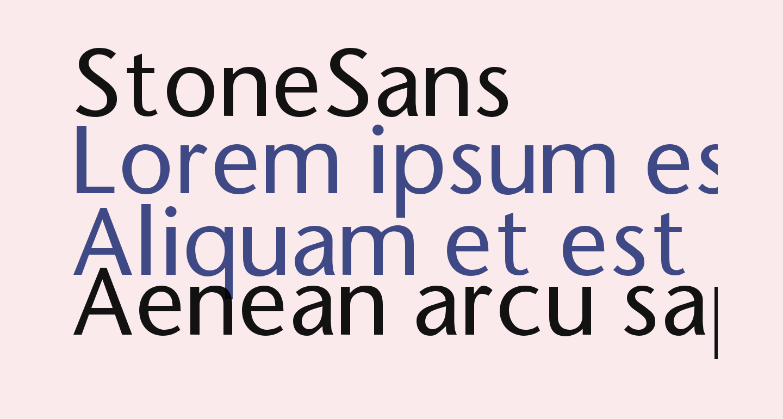 StoneSans