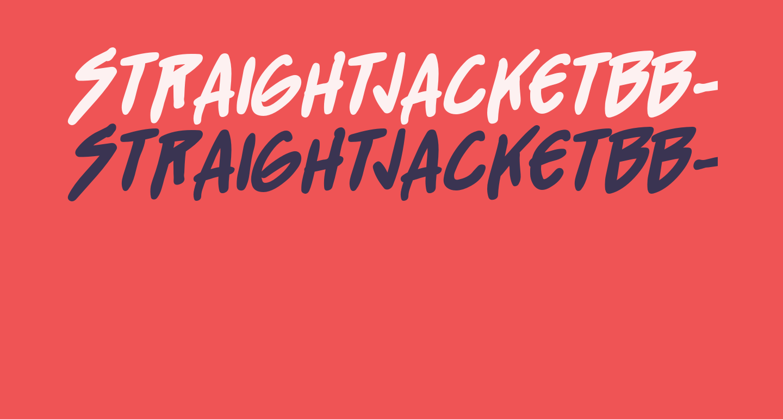 StraightJacketBB-Bold