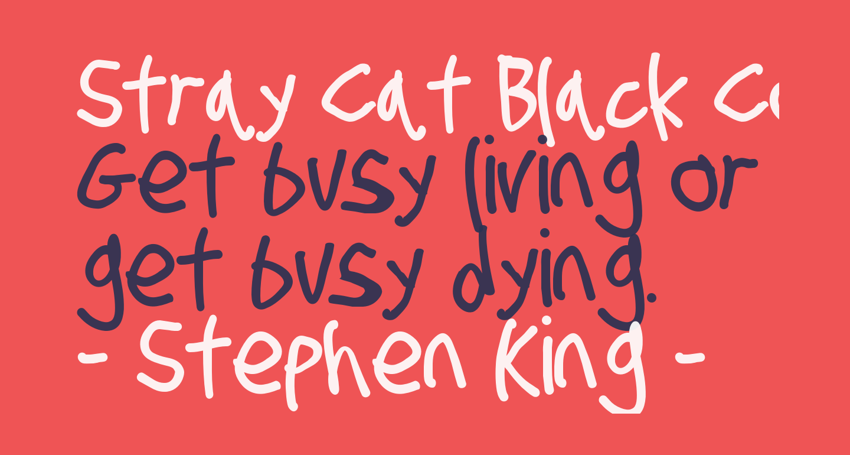 Stray Cat Black Condensed