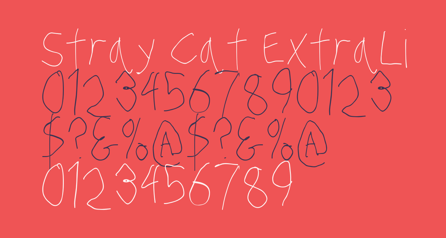 Stray Cat ExtraLight Condensed