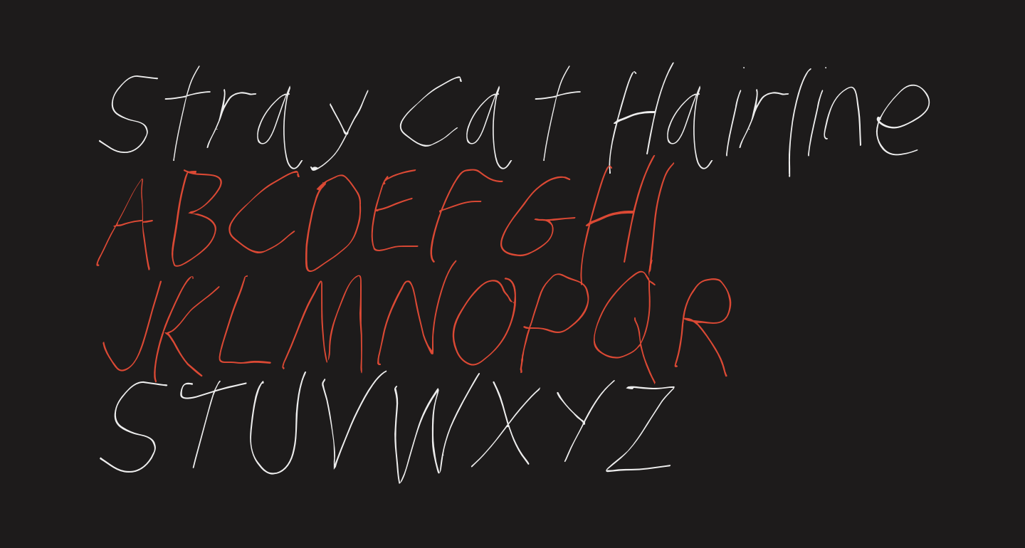 Stray Cat Hairline Condensed Oblique