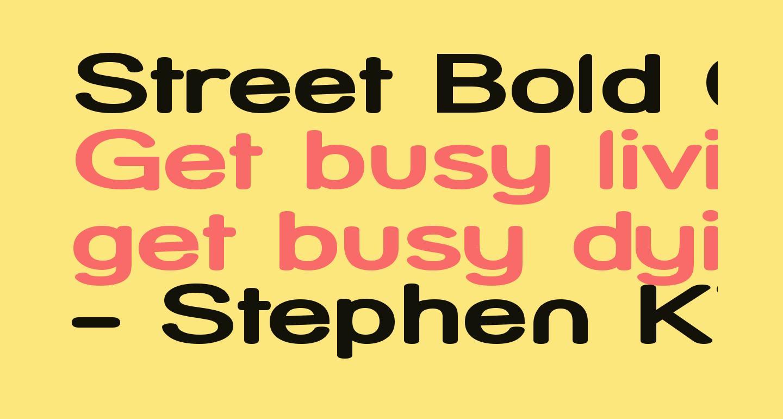 Street Bold Compressed