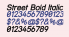 Street Bold Italic