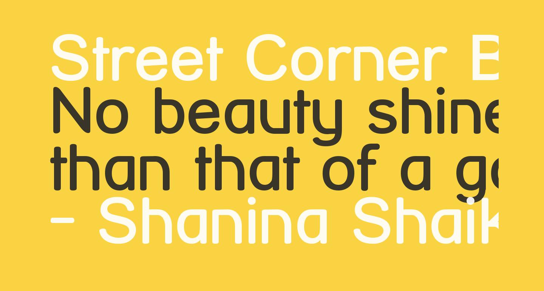 Street Corner Bold